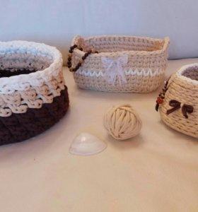 Корзинки и ковры из трикотажной пряжи