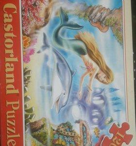 пазлы Castorland,русалочка,дельфин,для детей