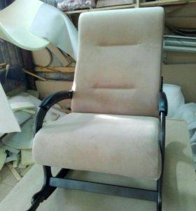Кресло качалка Престиж, светлокоричневый флок