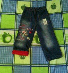 Новые зимние джинсы на 4-5лет