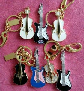 Флэшки Гитара все по 8 гб