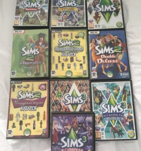 Набор дисков для PC sims 2 , Sims 3