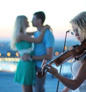 Музыкальное сопровождение вечера (скрипка, саксофон)