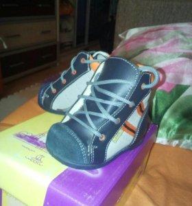 Ботиночки на первый шаг 17 размер новые