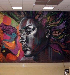 Оригинальная роспись стен, граффити оформление