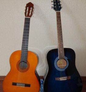 2 гитары (акустическая и классическая) + 2 чехла