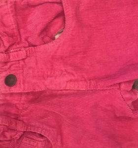 Вельветовые брюки на подкладке хлопок Name it
