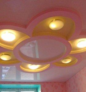 """Потолок в комнату девочки """"Цветочек"""""""