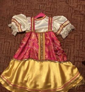 Концертный костюм сарафан+рубашка+кокошник