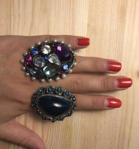 Массивные кольца 💍 бижутерия