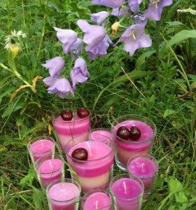 Ароматизированные свечи ручной работы