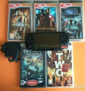 Игровая приставка PSP E1008 + лицензионные игры