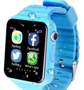 Умные часы для детей V7K c(GPS- трек.) +🎁 Spinner