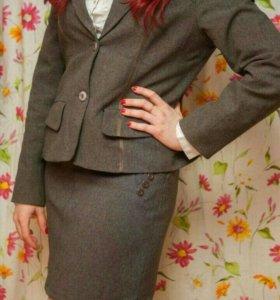 Пиджак+ юбка(школьная форма для девочки)