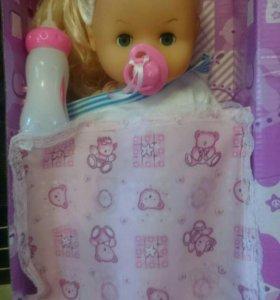 Кукла с кроваткой