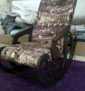 Кресло качалка Стандарт, велюр коричневый Париж