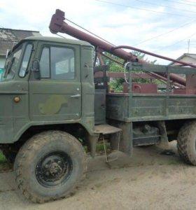 Бурильно-крановая машина на базе газ-66. Ямобур
