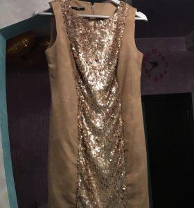 Платье с пайетками,р-р 44-46