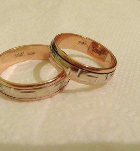 Золотые кольца р.16,5 и 19,0