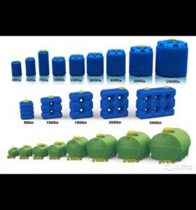 Емкости, баки для воды от 100 до 10000 литров
