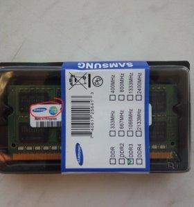 Оперативная память DDR3 1600/1333Мгц Samsung 2/4Гб