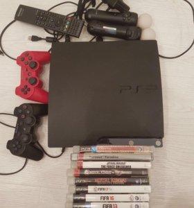 PlayStation 3 120Gв подарок pressmove и много игр.