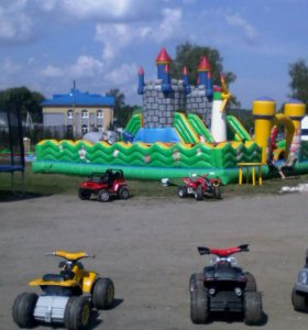 Батут Замок 100м2