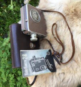 """Прибор для фотографий """"Турист"""" СССР , кожаная сумка, буклет пользования"""