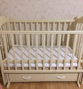 Кроватка детская с + держатель балдахина в подарок
