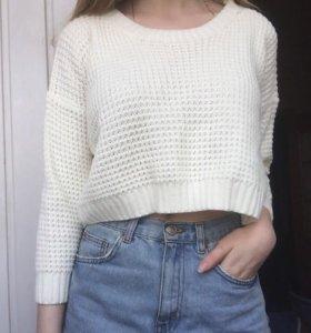 укорочённый пуловер