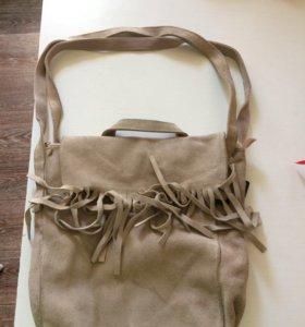 Замшевая сумка