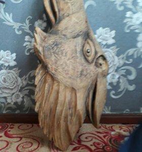 Голова лося из дерева