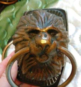 Дверная ручка с кольцом Лев (СССР, 2 комплекта)