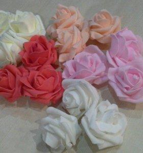 роза фоамиран диаметр 6 см