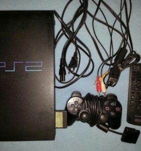 Игровая приставка PS2 + 9 игр