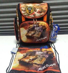 Ранец рюкзак школьный ортопедический+сумка
