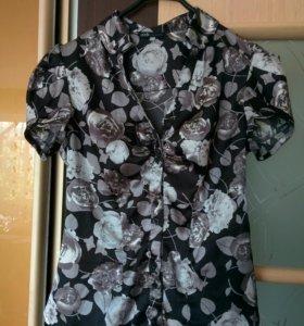 Блузка Oodji женская цветочный принт шелк