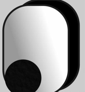 Фон для фото студии двухсторонний черно-белый