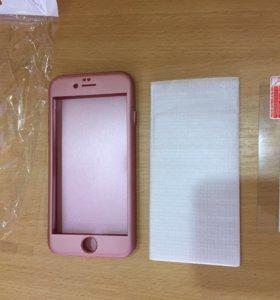 Новый чехол на айфон 6 + защитное стекло