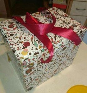 Фондю в подарочной коробке новый