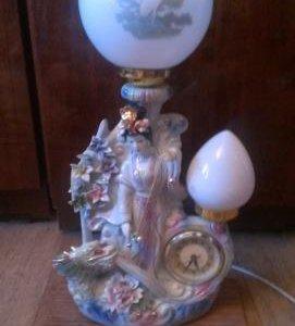 Часы-светильник Гейша 1990-х годов