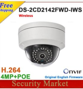 Новый Hikvision DS-2CD2142FWD-IWS 4 MP POE WiFi