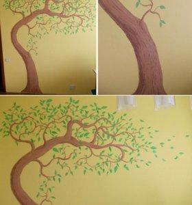 Роспись стен, роспись потолков