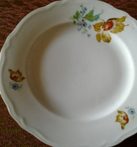 Фарфор чехословакия. 6 тарелок