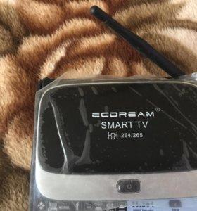 Android tv приставка+ ВТ клавиатура,