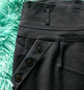 Темно-синяя юбка карандаш