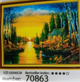 Набор алмазная вышивка мозаика 50×40