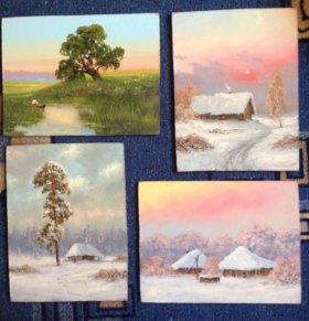 Картины Миниатюры Пейзажи