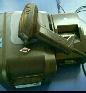 Продам набор сканер, принтер штрих-кодов, принтер