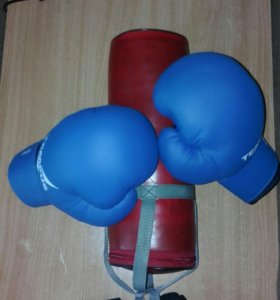 Боксерские перчатки,груша и бинты